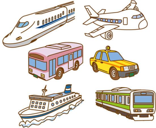 公共交通機関のイラスト